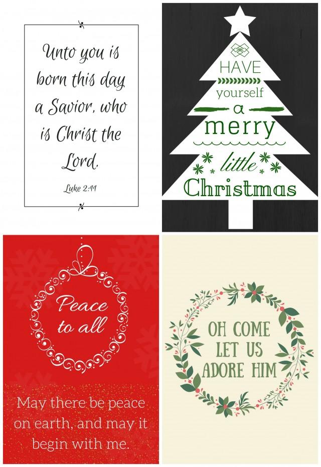 Christmas printables (free)