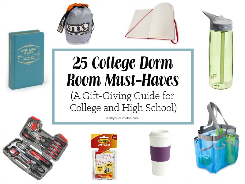 25 College Dorm Room Must-Haves (A Gift-Giving Guide for College and High School)