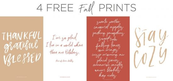 four totally free fall prints for your home... these are really cute!