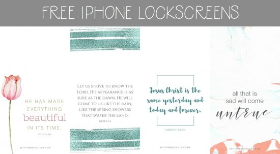 four free iPhone lock screens for spring