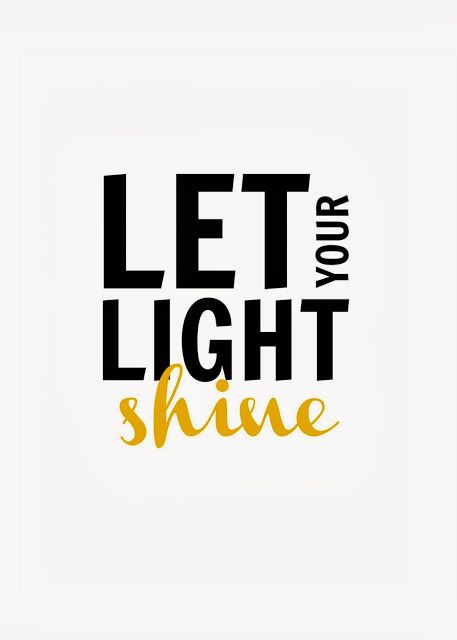 Let your light shine // free printable