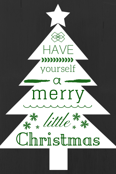 Have yourself a merry little Christmas #freeprintable via http://kaitlynbouchillon.com/