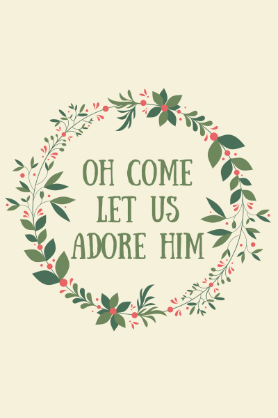 Oh come let us adore Him #freeprintable via http://kaitlynbouchillon.com/