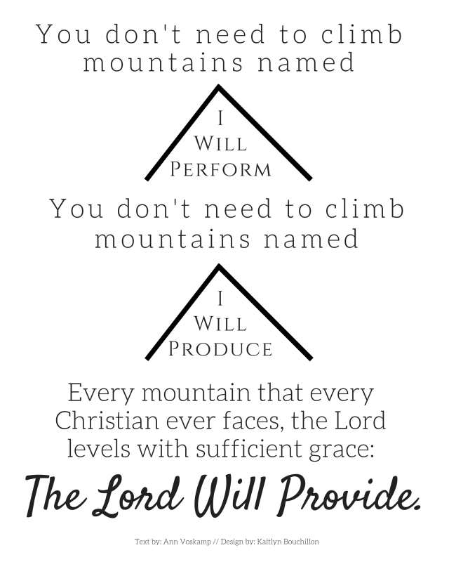 The Lord Will Provide // Ann Voskamp quote, free printable