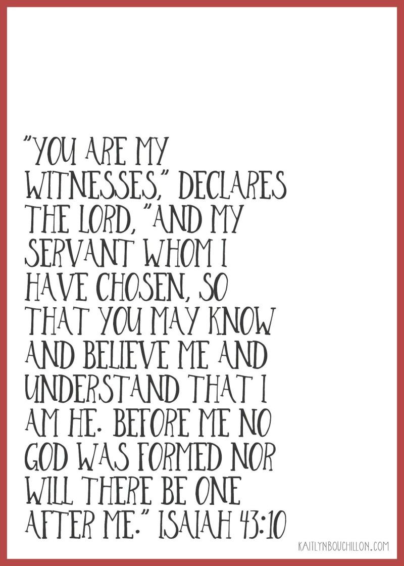Isaiah 43:10 #freeprintable