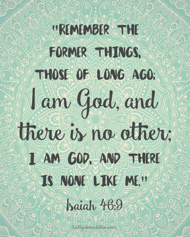 Isaiah 46:9 free printable