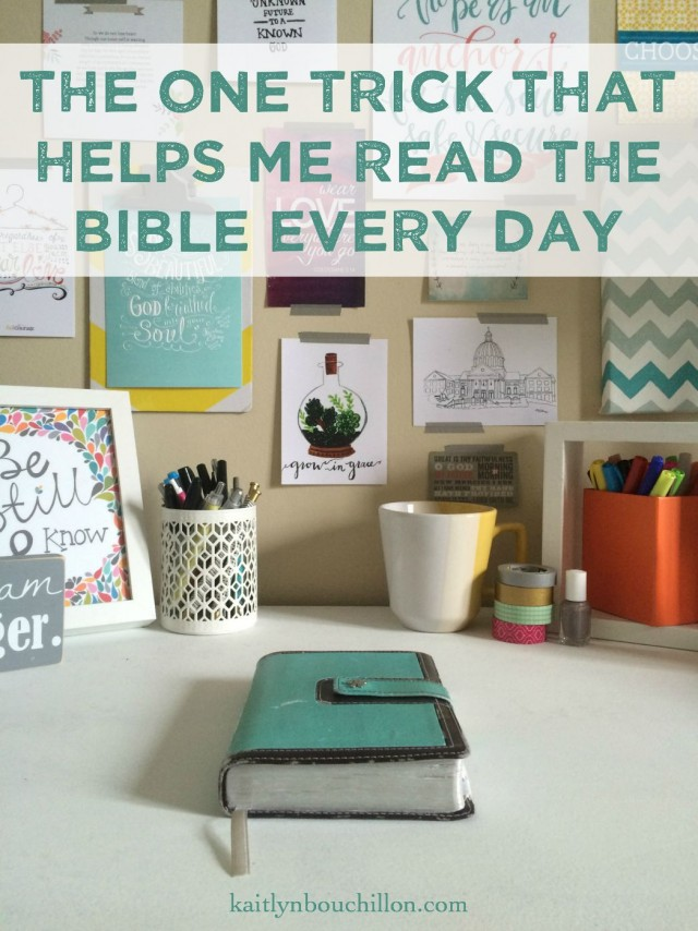 one super simple and easy way to remember to read the Bible every day ... why have I never thought of this?