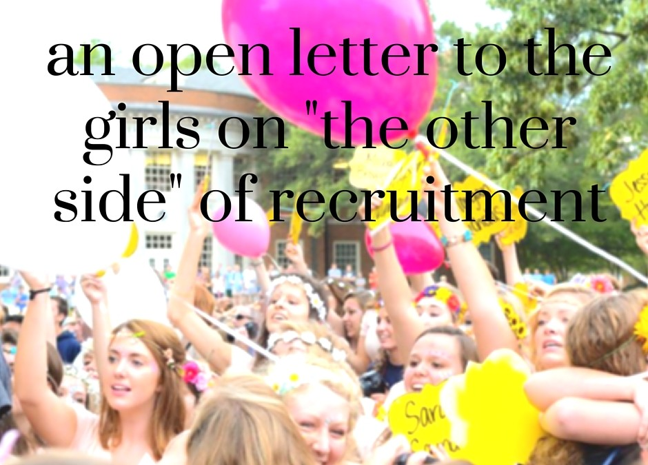 "an open letter to the girls on ""the other side"""