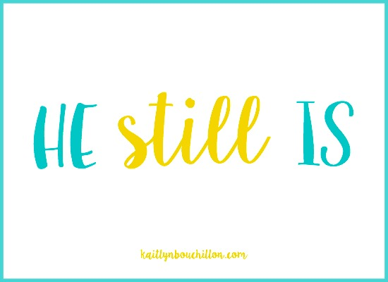 God is still good. He is still loving, still kind, no matter what we're facing.