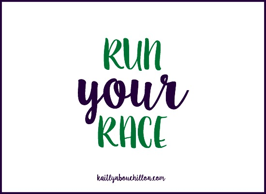 Whatever race you're in right now, whether you're limping or on the sidelines, doubled-over in pain or not even sure if you want to run at all, look up, keep going, fix your eyes.