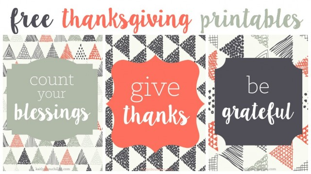 three free thanksgiving printables
