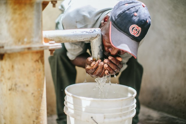 When clean water comes to a Haitian village for the first time...