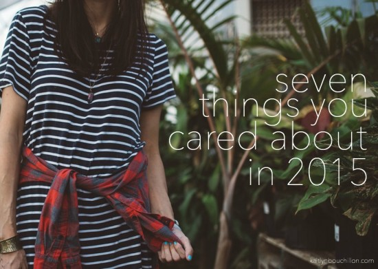 seven things you cared about in 2015