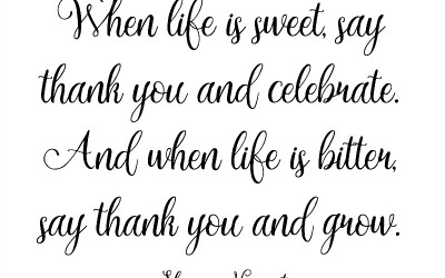 When Life Is Sweet {free print}