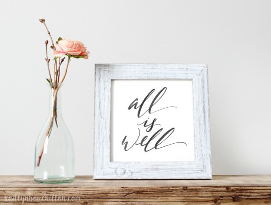 All Is Well - free printable download