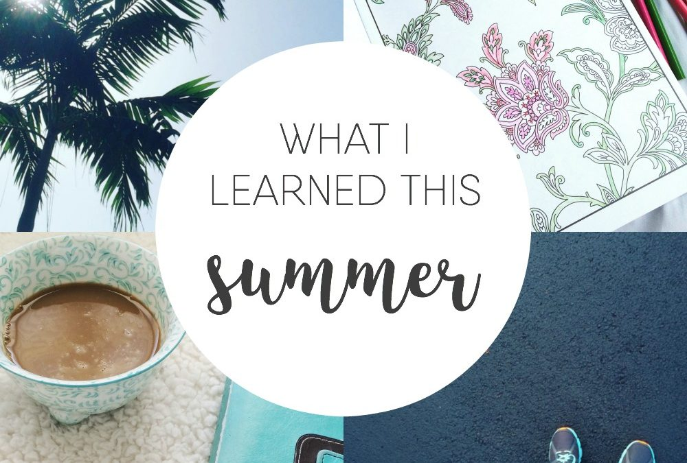 What I Learned This Summer {giveaway!}