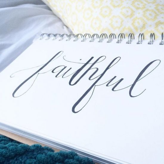 faithful #handlettering