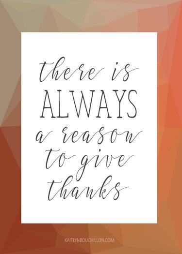 there is always a reason to give thanks