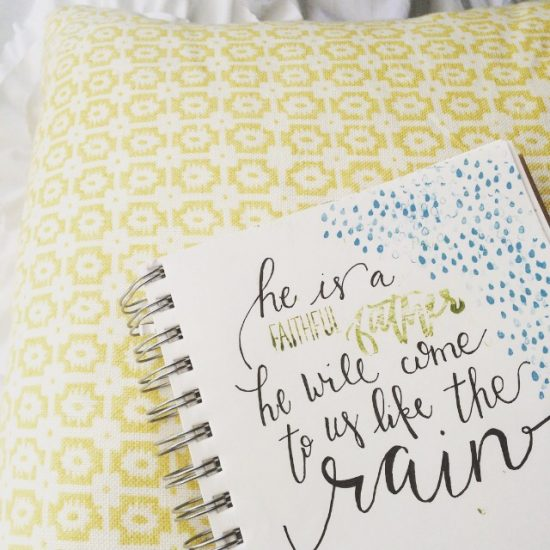 He is a faithful Father... He will come to us like the rain. {Hosea 6:3}