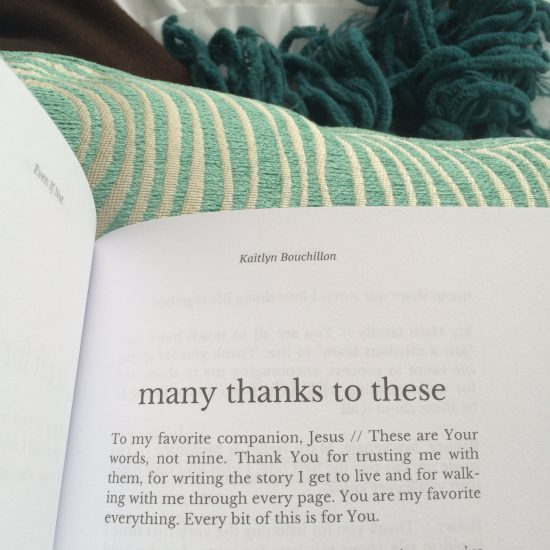 From Even If Not by Kaitlyn Bouchillon