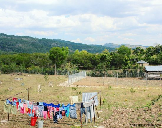 Haiti, clothing on the line