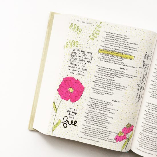 Illustrated Faith Bible journaling... Free to Flourish kit!