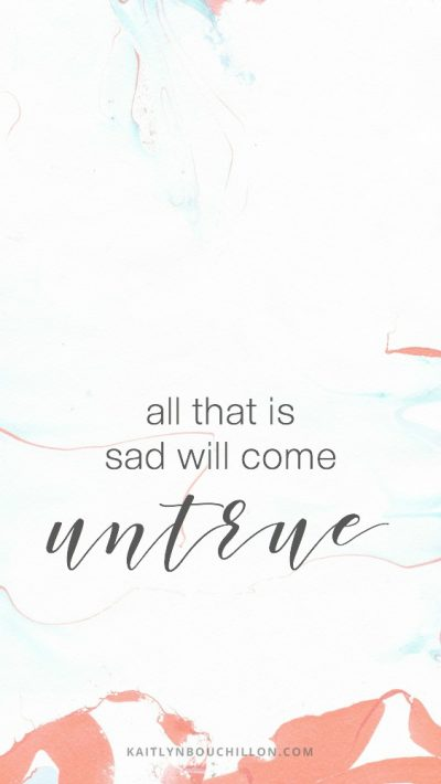 free iPhone lock screen - all that is sad will come untrue
