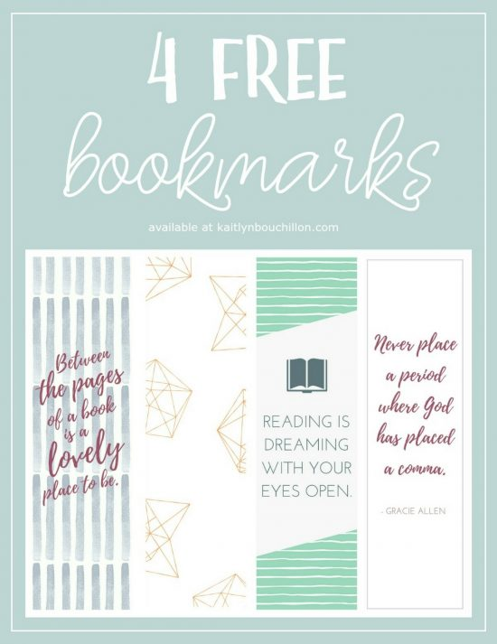 4 cute - and free - bookmarks