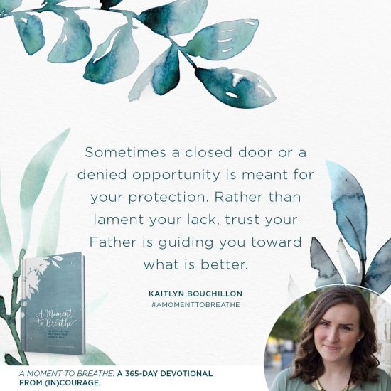 A Moment to Breathe giveaway quote by Kaitlyn Bouchillon