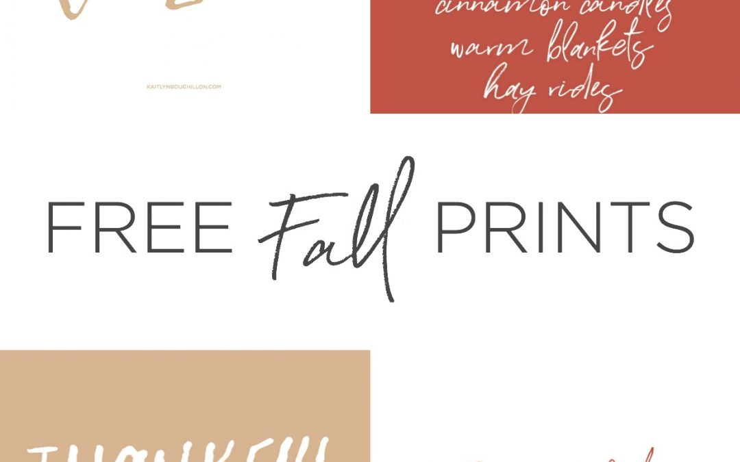4 Free Fall Prints for Your Home