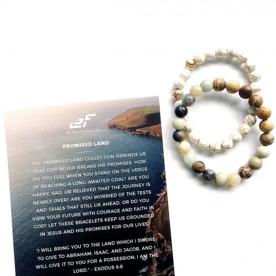 Elevated Faith promised land bracelets