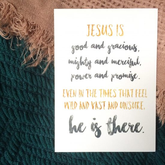 Jesus is good and gracious... (free print from kaitlynbouchillon.com)