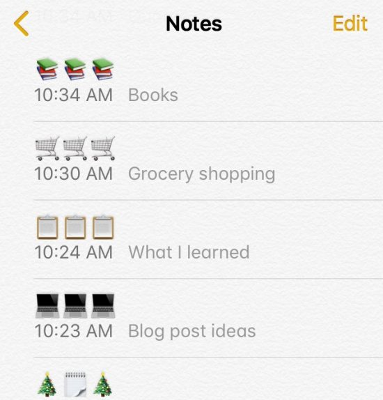 An emoji-organized Notes app makes every list happier.