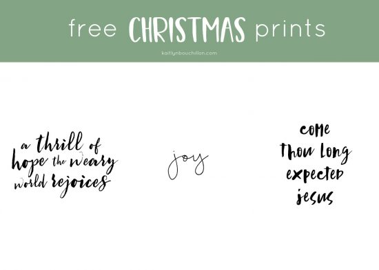 3 free christmas printables for your home