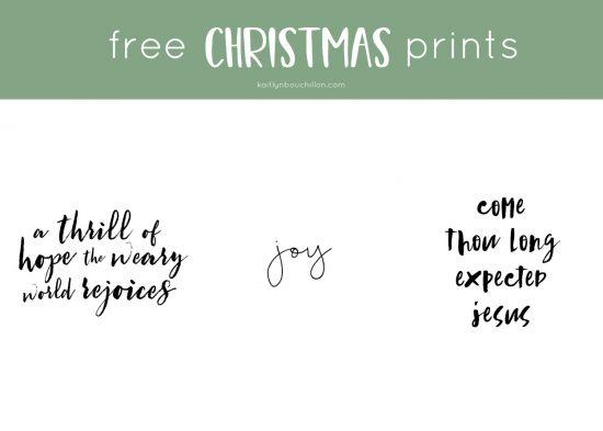 3 free christmas printables for your home