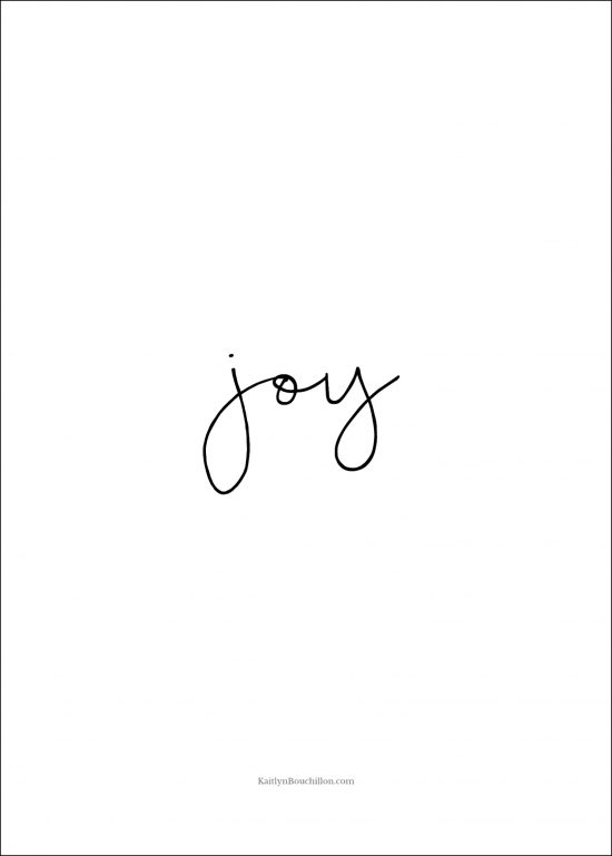 free Christmas printable: joy