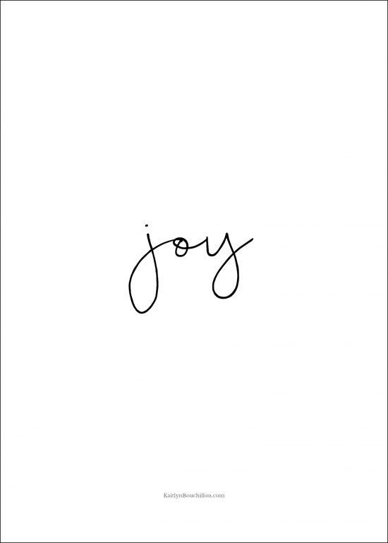 free Christmas printable: joy