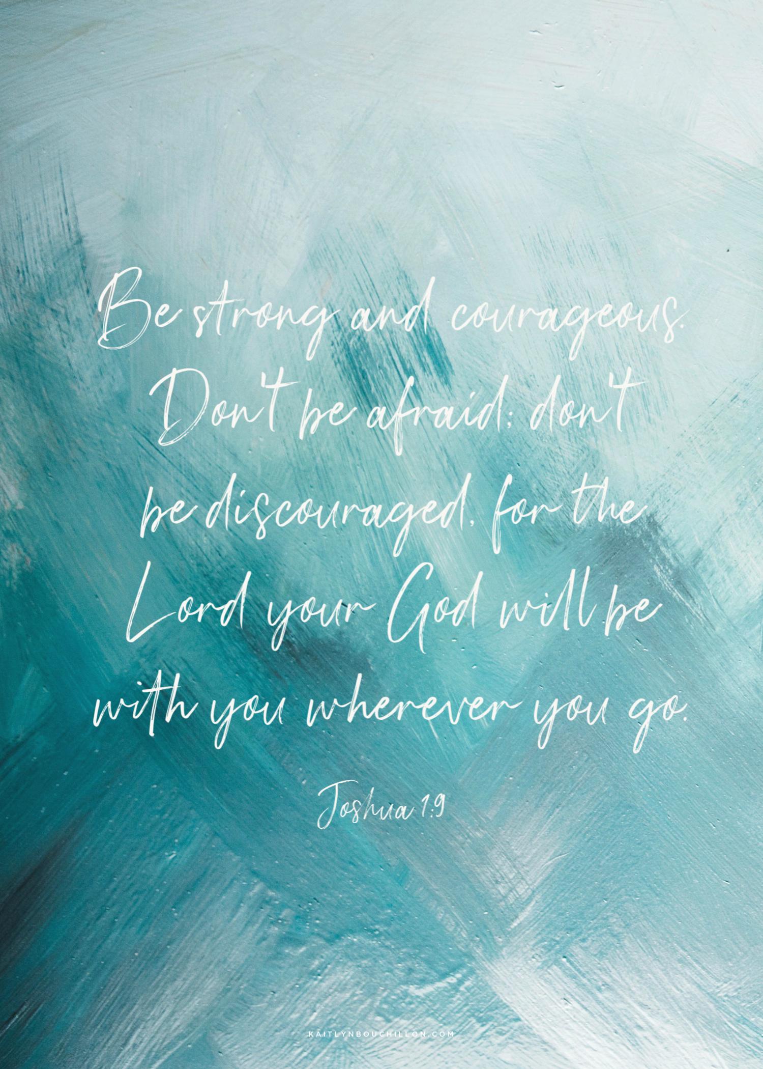 Joshua 1:9 free printable