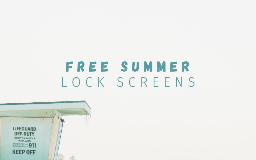 10 Free Summer iPhone Lock Screens