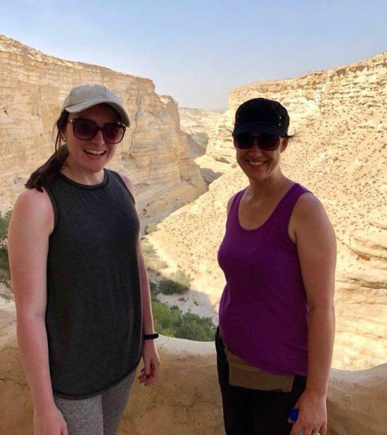 Kaitlyn and Katie in Israel