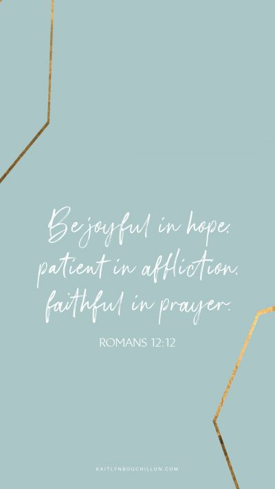 free iPhone lock screen: Romans 12:12