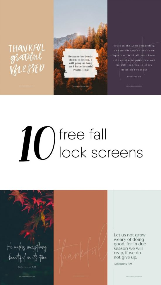 10 free fall lock screens
