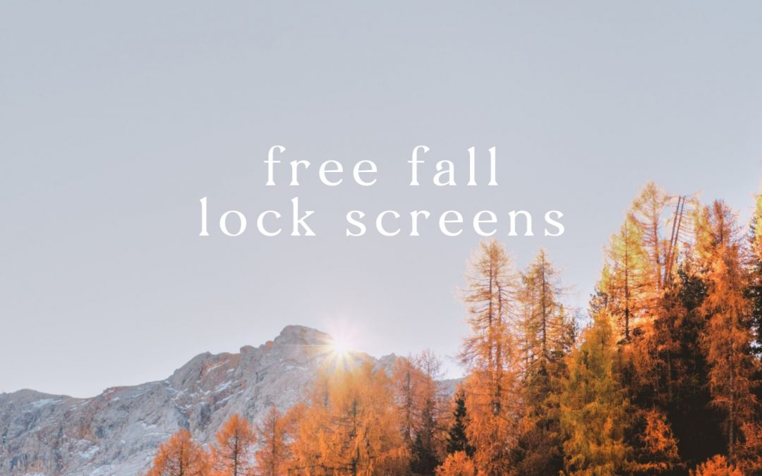 10 Free Fall iPhone Lock Screens