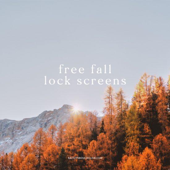 free fall lock screens