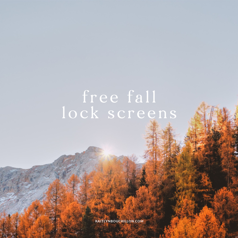 10 Free Fall Iphone Lock Screens Kaitlynbouchillon Com