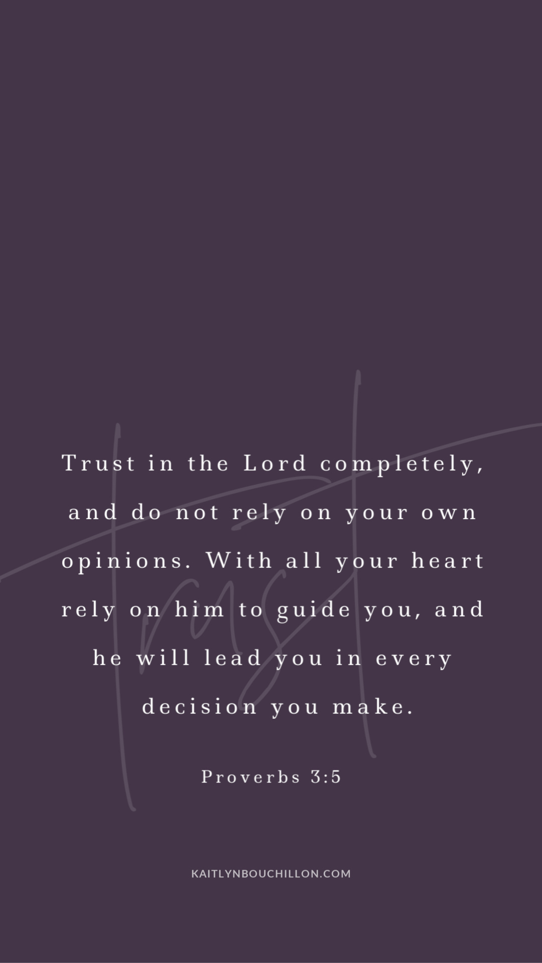 free iPhone lock screen: Proverbs 3