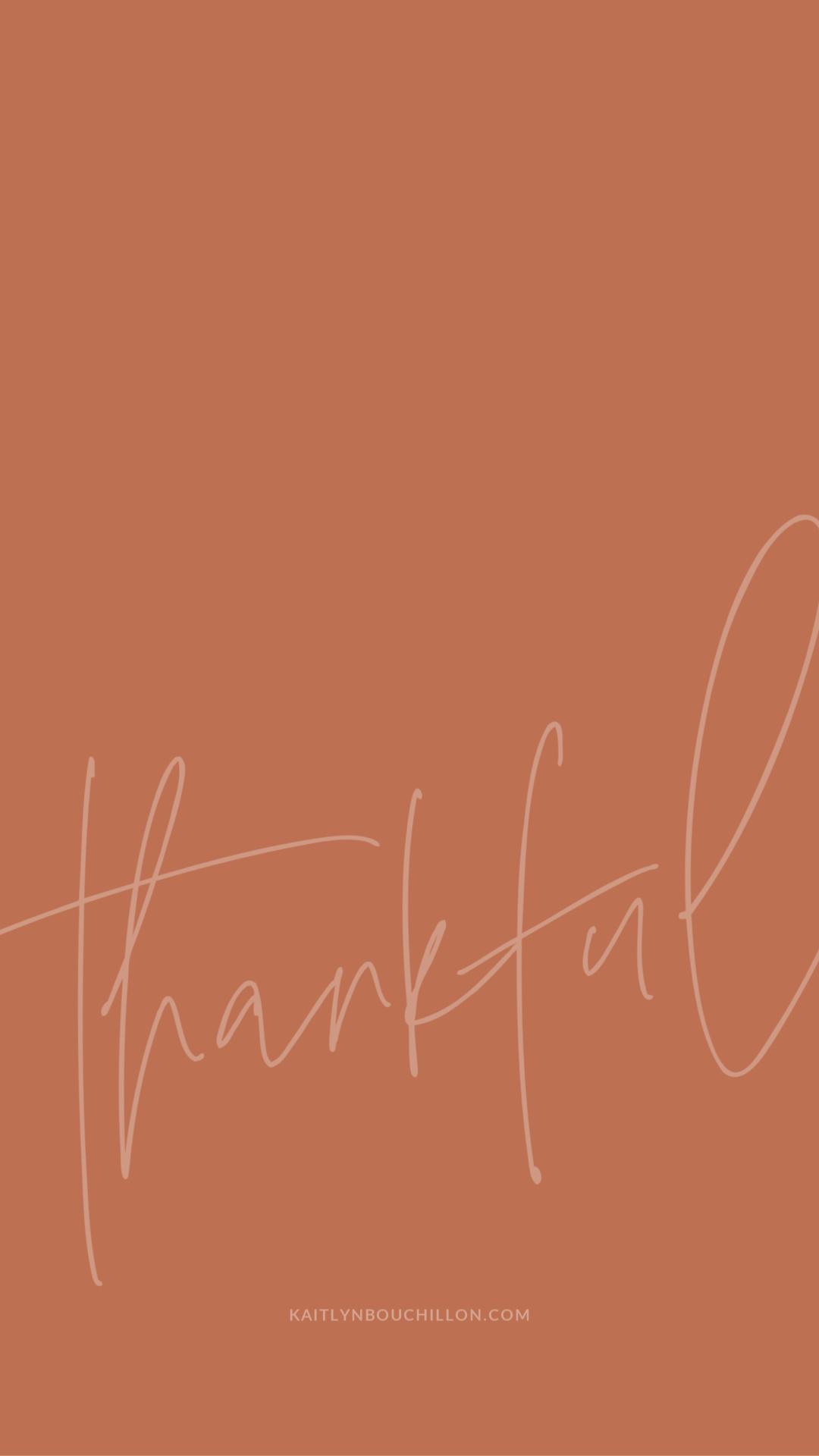 free iPhone lock screen: thankful