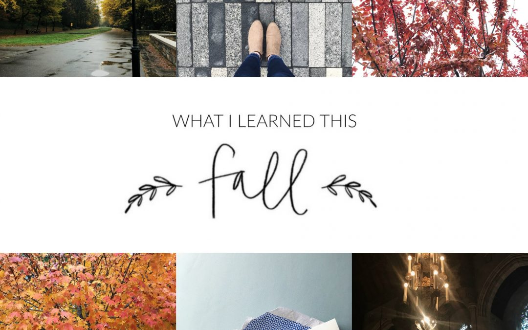 What I Learned: Fall 2019