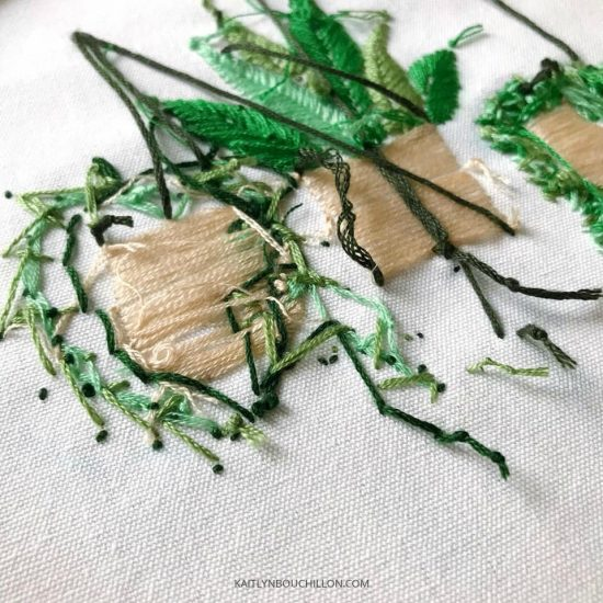 Beginner's embroidery kit... a beautiful lesson from a mess!