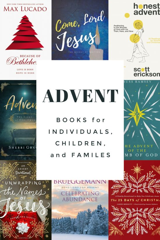 Advent books for individuals, children and families